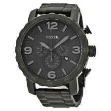 eba96ab95bd Fossil Nate Chronograph Black Dial Black Ion-plated Men s Watch JR1401