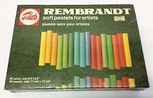 New Vintage Talens Rembrandt Soft Pastels for Artists 60 sticks 11mm x 72mm