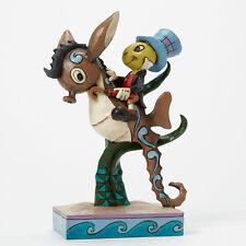 Enesco Disney Jim Shore Pinocchio Figurine Jiminy Cricket On Seahorse 4043648