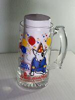 Vivid Color Vintage 1987 Bud Light Spuds Mackenzie Large Glass Beer Mug