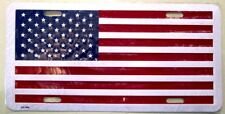 "American USA Flag United States Flag Stamped Aluminum License Plate 6"" x 12"""