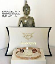 ARABESQUES BUDDHA OM MANI PADME HUM MANTRA BANGLE/ROSE GOLD PLATED LADIES/MENS