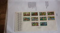 1976 NIUE STAMP ISSUE FDC, FOOD GATHERING SET OF 10 STAMPS