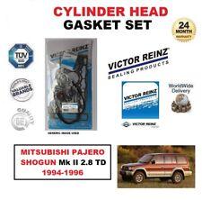 VICTOR REINZ HEAD GASKET SET for MITSUBISHI PAJERO SHOGUN Mk II 2.8 TD 1994-1996