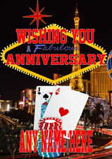 Nevada Las Vegas Gambling Happy Anniversary Card mia1 A5 Personalised Greetings