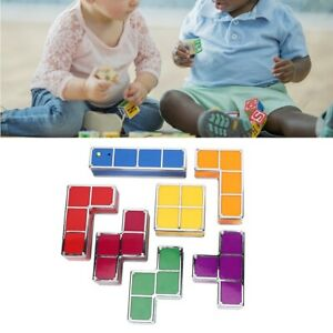 Puzzle Tetris LED Night Light Desk Lamp Colored Block Stackable Light Child Toy