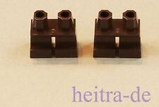 LEGO - 2 x Beine / Hose kurz dunkelbraun / Dark Brown Legs Short / 41879 NEUWARE