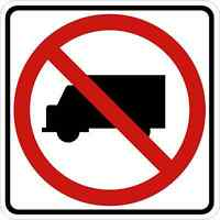 NO DELIVERIES SIGN Vinyl Decal / Sticker ** 5 Sizes **