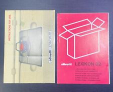Olivetti Lexikon 82 Typewriter Manual & Unpacking Instructions Vintage Original