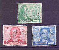 Berlin Briefmarken 1949 - Goethe - MiNr 61/63 gestempelt - Michel 180,00 € (944)