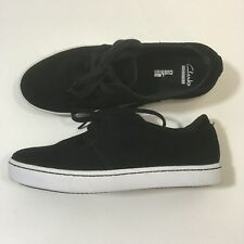 Clarks Collection Shoes Womens Black Suede Leara Blend Sneaker Size 6.5M