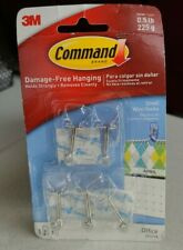 3M Command Small StrongClear Wire Hooks with Clear Strips 5 Hooks Holds 0.5 lbs
