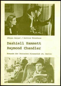 Freunde der Deutschen Kinemahek eV - Dashiell Hammett / Raymond Chandler