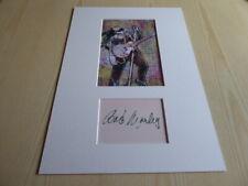 Bob Marley photograph & autograph card