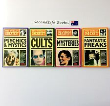 x4 THE WORLD'S GREATEST Psychics & Mystics, Cults, Mysteries, Fantastic Freaks
