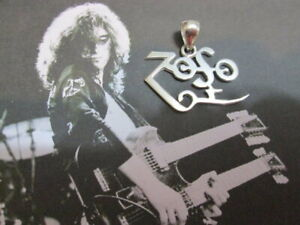Zoso logo of Jimmy Page Led Zeppelin Pendant made Sterling Silver 925