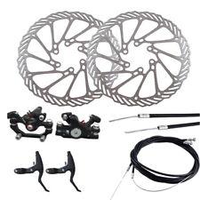 Mountain Bike Bicycle Mechanical Disc Brake Front & Rear Set W/ 160mm Rotors Kit
