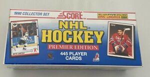1990 SCORE HOCKEY PREMIER EDITION FACTORY SEALED SET #1-445 Box62400 LINDROS RC
