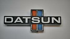 OEM Datsun 720 Pickup Truck 80-83 Grill Emblem Badge Logo Red Blue Stripe Nissan