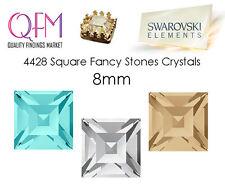 12pcs 8x8mm 4428 SWAROVSKI® Undrilled Square Fancy Stones Crystals 4428