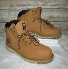 Timberland PRO Series Pit Boss Tan Leather Sz 13W LaceUp Steel Toe Work Boots