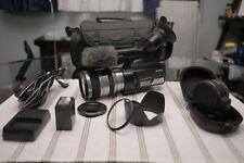 Sony NEX-VG10 Camcorder SEL18200 Lens, chargers, NP-FV100, LA-EA2 lens adapter