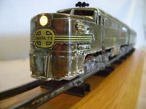 American Flyer 360 and 361 Rare Chrome-Plated Santa Fe Alco PA/PB Diesels