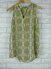 SUSSAN Sz 8 Top/Blouse Green , Gray Print