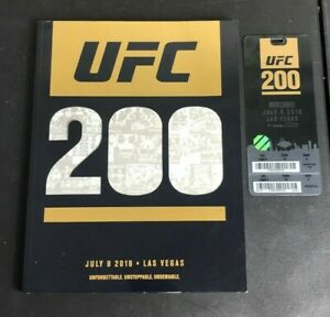 UFC 200 Official Program w Ticket and Fight Card