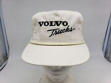 Vtg TONKIN VOLVO Trucks USA White Rope Mesh Strapback Trucker Hat Cap