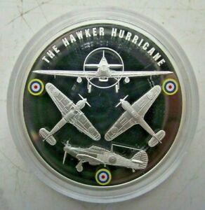 2010 WW2 BATTLE OF BRITAIN PROOF COLOURED PICTURE MEDALLION THE HAWKER HURRICANE