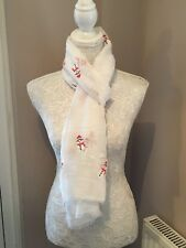White little Snowman Christmas Scarf Shawl wrap lovely festive gift present