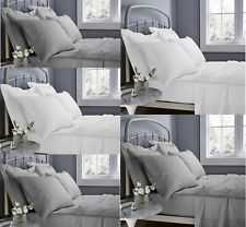 600TC 40CM EXTRA DEEP FITTED SHEET 100% EGYPTIAN COTTON DOUBLE SUPER KING 600 TC