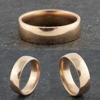 6mm Rose Gold Stainless Steel Mens & Womens Wedding Band - Ring Sizes K to Z+4