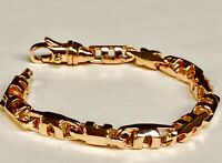 "14k Solid Rose Gold Men's Anchor Mariner Link Chain Bracelet 6 MM 7.5"" 24 grams"