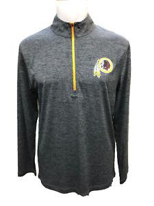 Washington Redskins Men's Intimidating Performance 1/2 Zip Jacket - Charcoal