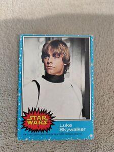 TOPPS STAR WARS 1977 #1 LUKE SKYWALKER ROOKIE CARD EXCELLENT CONDITION
