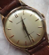 Jaeger LeCoultre mens wristwatch 18K solid gold case 33,8 mm. in diameter