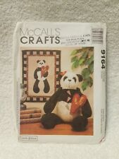 """McCall's 9164 22"""" Panda and Quilt Vanilla House Sewing Pattern"""