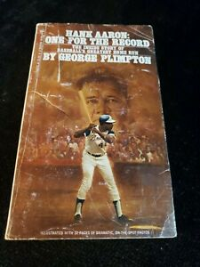 Vintage 1974 Hank Aaron One for the Record Paperback Book by George Plimpton