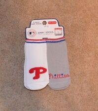 Philadelphia Phillies Baby Socks w/ Grippers 2 pack 0-12 months NEW NFL!