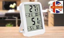 Mini LCD Termómetro y Higrómetro Medidor de hogar digital Reloj de temperatura ambiente