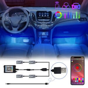 USB Car LED Interior Decorative Atmosphere Lamp Strip Floor Light Accessories