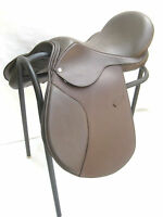 """NEW"" Quality Brown Leather Treeless GP (jumping) Saddle 16"" & 17"""