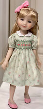 "Boneka Green Floral Print Dress for Ruby Red Fashion Friend 14.5"" Dolls"
