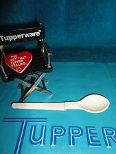 VINTAGE TUPPERWARE TAN / ALMOND HANG ON BABY OR CONDIMENT SPOON # 1208