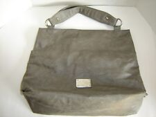 "LARGE 18"" x 15"" VERY SOFT GRAY PURSE D & H BAG DOLCB & ACBRAHF HANDBAG SHOPPER"