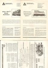 3 1970s flyers from Assoc Hobby Manufacturerers (AHM)   switchers & coal mine