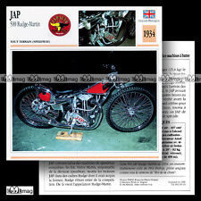 #063.19 JAP 500 RUDGE - MARTIN 1934 (PHIL BISHOP) Speedway Fiche Moto Motorcycle