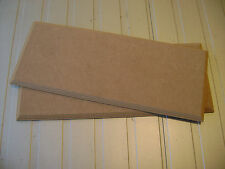 """2) Plaques 10"""" x 4""""  MDF WOODEN RECTANGLES SHAPE PLAQUES BLANKS"""